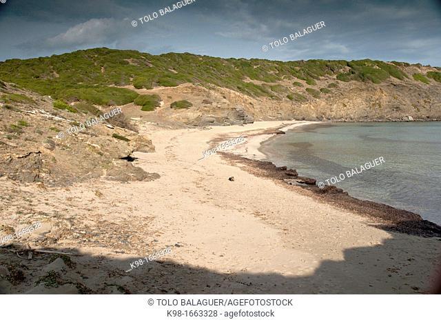 Playa den Tortuga and Cala Presili, Minorca, Balearic Islands, Spain