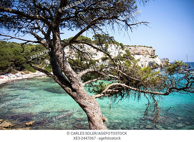 Cala Macarella, Minorca, Balearic Islands, Spain
