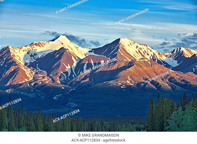 St. Elias Mountains, a subgroup of the Pacific Coast Ranges , from Haines Junction, Yukon, Canada