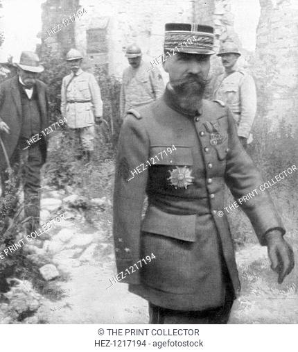 Georges Clemenceau and General Gouraud, 6th July 1918. The French Prime Minister (left) with the commander of the French 4th Army