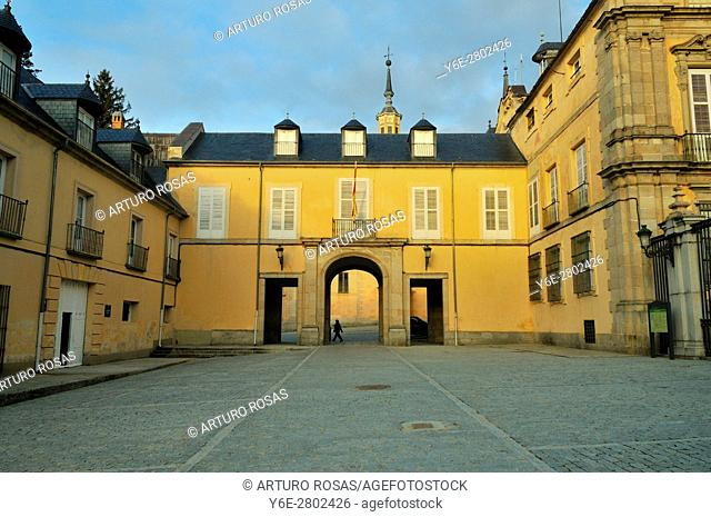 Royal Palace of La Granja de San Ildefonso in the province of Segovia, Spain