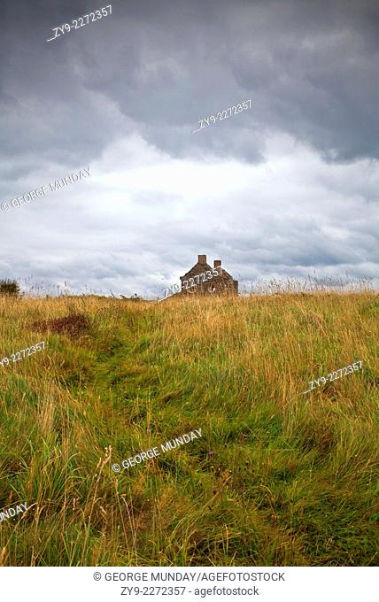 An old deserted cottage at Rosses Point,