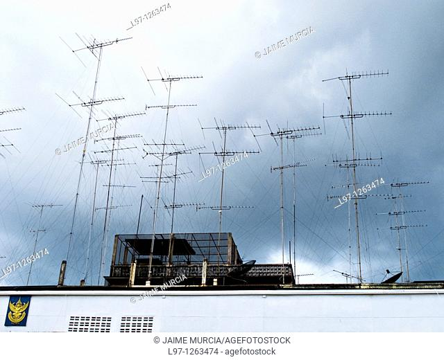 Antennas on roof top