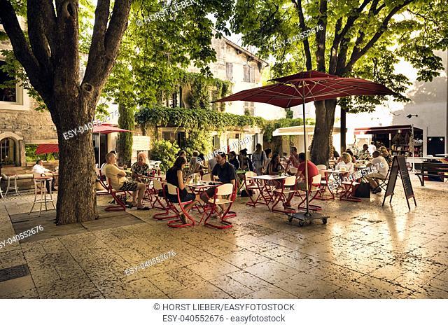Place Favier in St Remy de Provence. Buches du Rhone, Provence, France