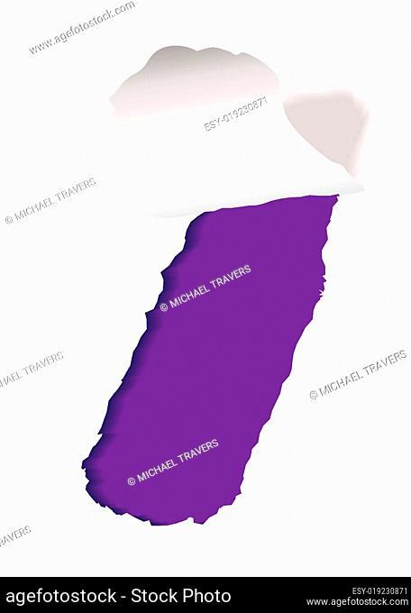 purple paper slot tear