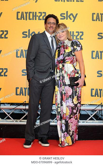 attends the premiere of the Sky TV serie Catch-22. Rome (Italy), May 13th, 2019American actor and director Grant Heslov and American actress Lisa Heslov attend...