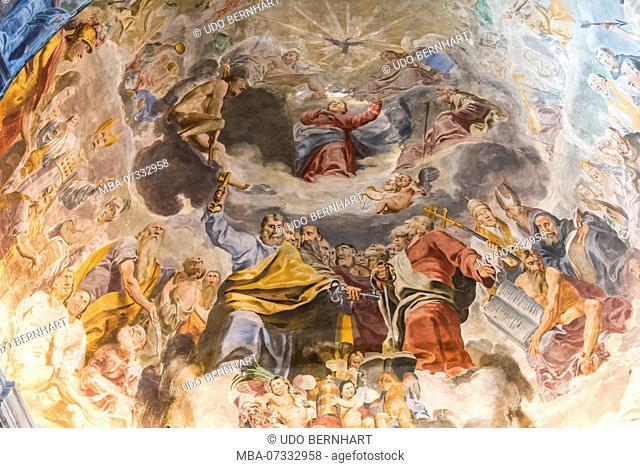 Interior of the SS. Pietro e Paolo church in Ascona, Lake Maggiore, Ticino, Switzerland