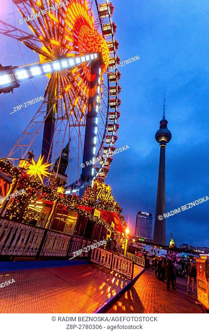 Germany, Berlin, Christmas atmosphere at Alexanderplatz