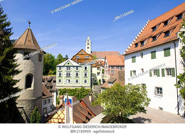 Historic district and the castle, Oberstadt district, Meersburg, Baden-Wuerttemberg, southern Germany, Germany, Europe