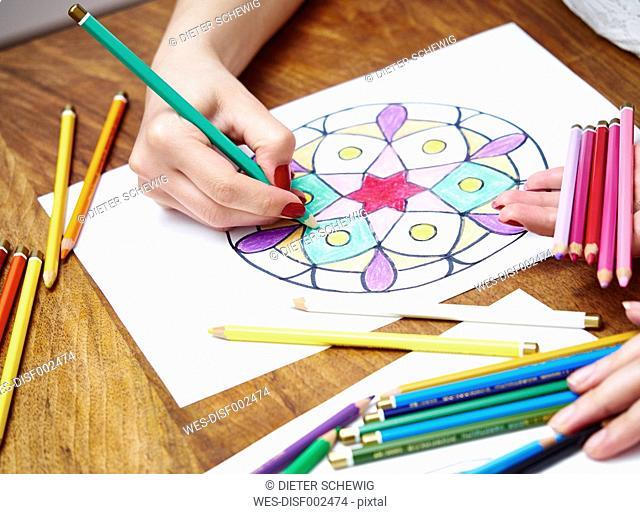 Hand drawing mandala