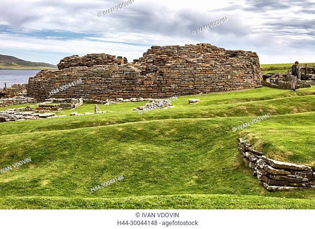 Broch of Gurness, Mainland, Orkney islands, Scotland, UK