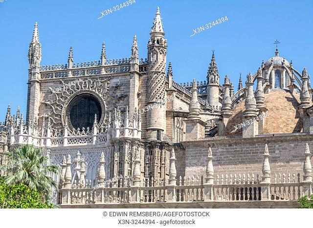 An image of the third largest church in the world the Cathedral of Saint Mary of the See in Seville , Spain