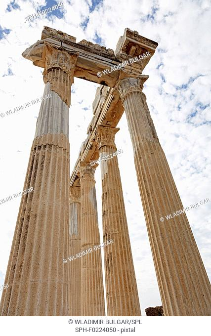 Columns of an ancient Greek temple
