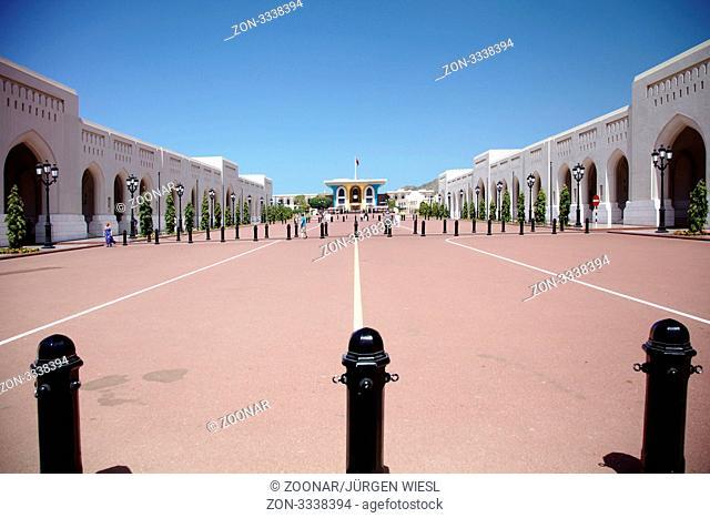 Vorhof des Sultanpalast Al Alam, Muskat, Maskat, Oman - Court of the Sultan Al Alam Palace, Muscat, Oman