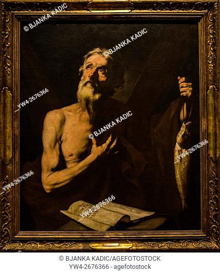 Jose de Ribera 'St. Andrew, patron of fishermen', 1634, Juan B. Castagnino Fine Arts Museum, Rosario, Argentina