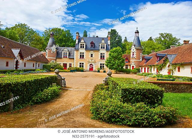 Troussay, Castle and Gardens, The smallest Castle in the Loire Valley, Chateau de Troussay, Le plus petit des Chateaux de la Loire, Cheverny, Loire et Cher