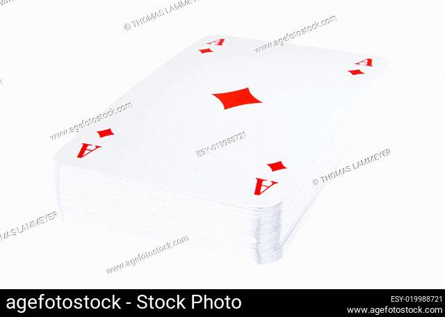 Kartenstapel mit Ass