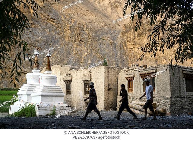 Skiu village.Trekking in Markha valley Laddakh, India