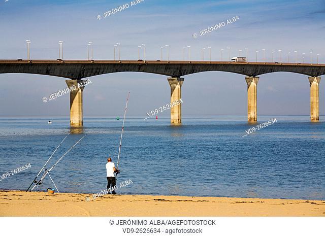 Bridge from La Rochelle to Ile de Ré, Charente-Maritime France