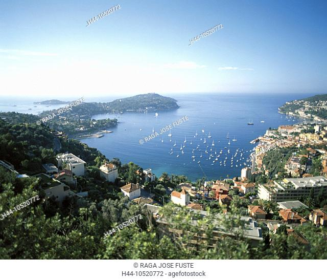 10520772, Cap Ferrat, villages, France, Europe, coast, South of France, Europe, overview