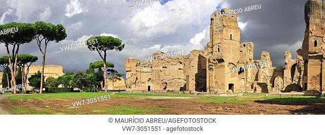 The Baths of Caracalla were the second largest roman public baths. They were built between AD 212 and 216, by Emperor Caracalla
