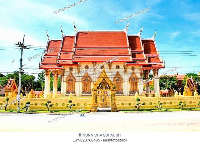 Thailand Temple on blue sky