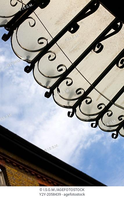 Glass eaves at Camden, London, England, UK