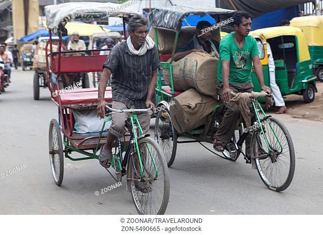 Fahrradrikscha, Dehli, Indien