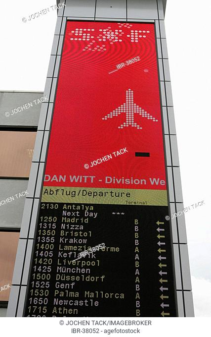 DEU, Germany, Berlin : Airport Berlin-Schoenefeld. Departure hall, departure display