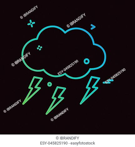 Weather icon design vector
