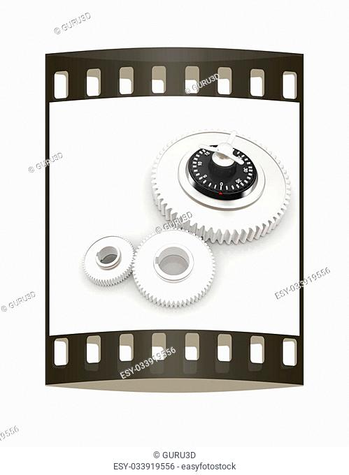 gears with lock. The film strip