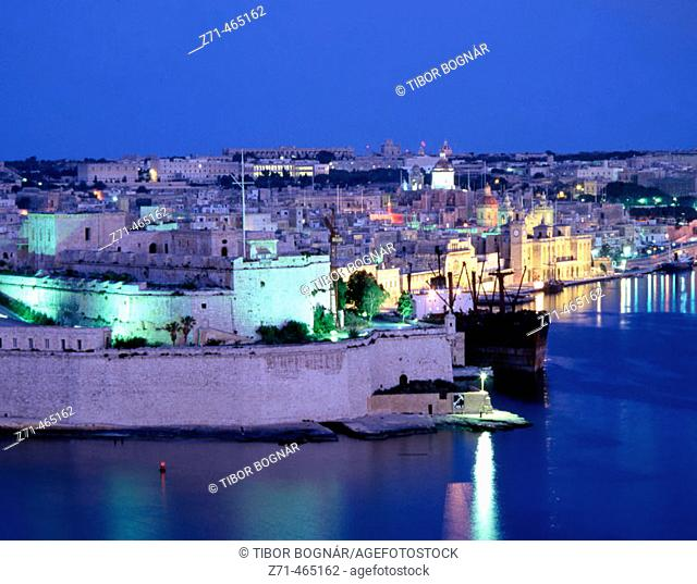 Fort St Angelo. Vittoriosa. Grand Harbour. Malta