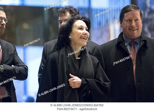 Safra Catz, CEO of Oracle, is seen upon her arrival at Trump Tower in New York, NY, USA on December 14, 2016. Credit: Albin Lohr-Jones / Pool via CNP - NO WIRE...