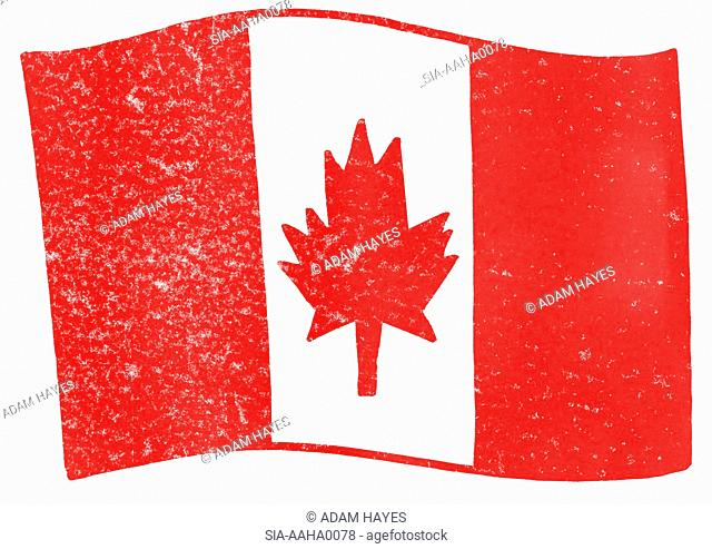 View of canadian flag