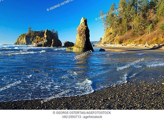 Needle Rock at Ruby Beach, Olympic National Park, Washington