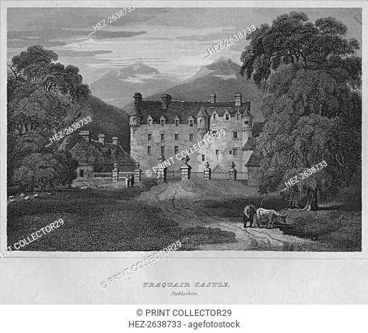 'Traquair Castle, Peebleshire', 1814. Artist: John Greig