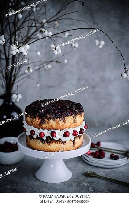 Upside Down Cramberry Layer Cake