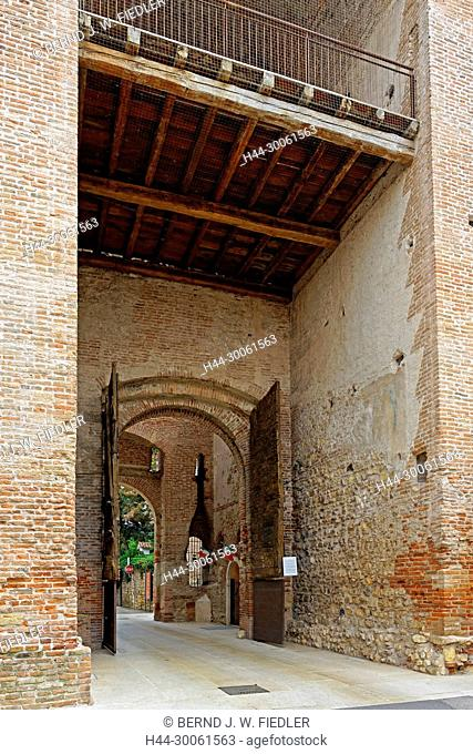 Europe, Italy, Veneto Veneto, Soave, via Giulio Camuzzoni, town gate, Porta Aquila, architecture, castles, buildings, historically, wall, place of interest