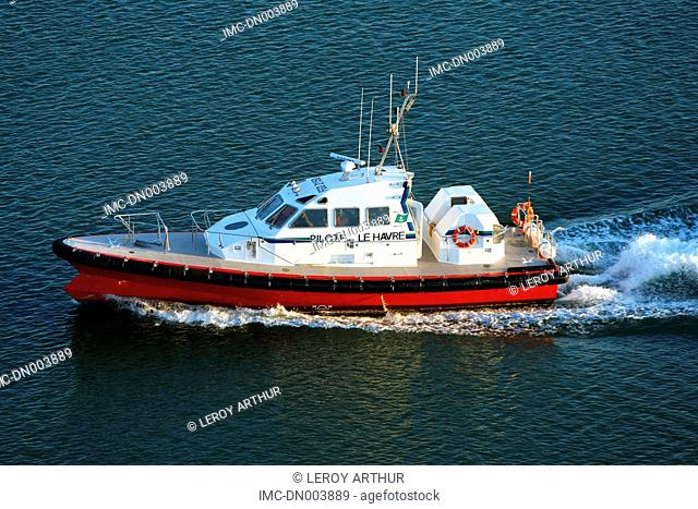 France, Normandy, Le Havre, tugboat