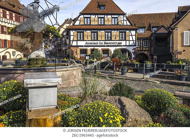 village Barr, on the Wine Route of Alsace, France