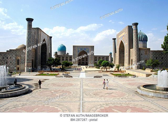 Madrasah Ulugh Beg, Tilla-Kari and Sherdar Registan Samarkand Uzbekistan