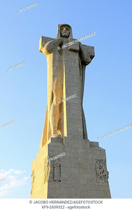 Monument to Columbus at Punta del Sebo.Huelva.Andalusia.Spain