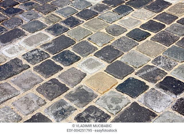 Cobblestone in Budapest, Hungary