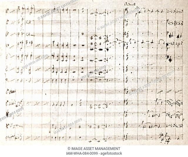 Concierto for a violin by Felix Mendelssohn (1809-1847) a German composer, pianist, organist and conductor of the early Romantic period