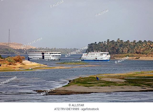CRUISE LINERS; RIVER NILE, EGYPT; 09/01/2013