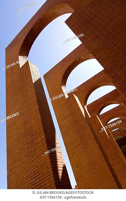 Arches detail, FIBES conference centre, Seville Spain