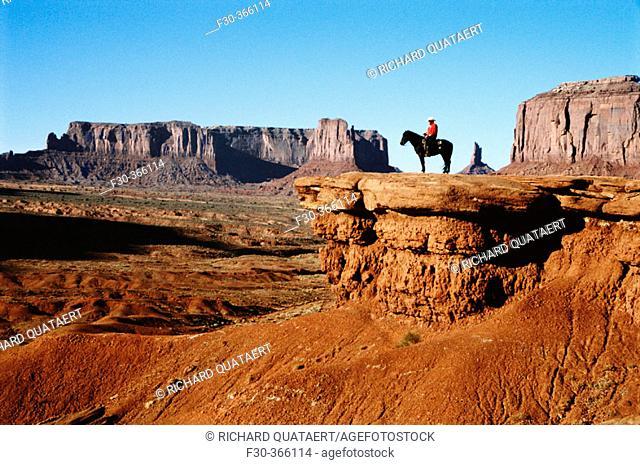 Horse of Raider. John Ford's Point. Monument Valley. Arizona. USA