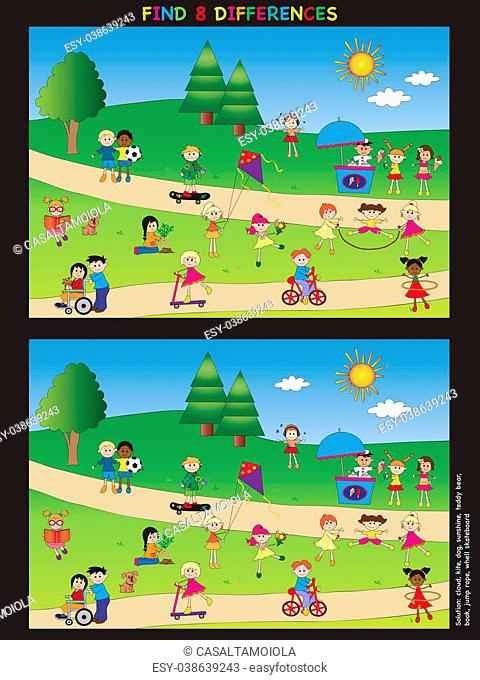 game for children: find eight differences