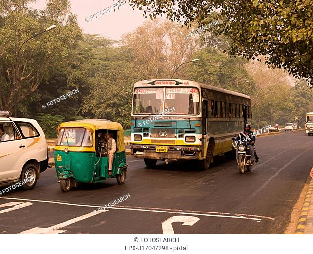 Traffic in Delhi India