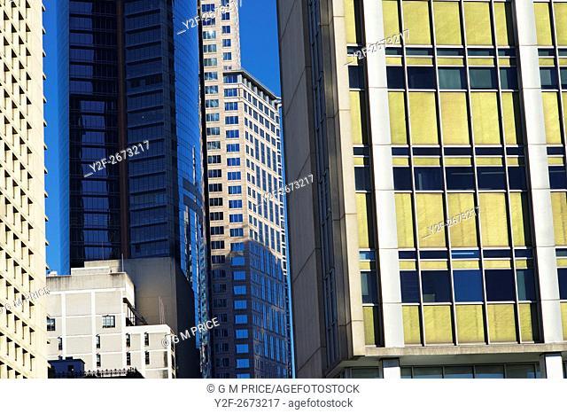 building facades in downtown Sydney